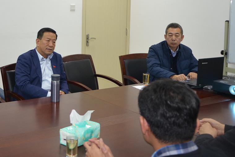 开发区管委主任苏景文、开发区科技局副局长苗建光一行莅临我公司考察